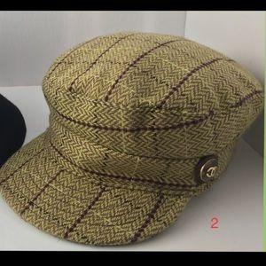 Auth Chanel Wool tweed Hat... Gorgeous